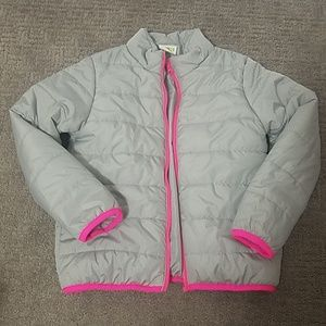 Crazy 8 Girls Large (10-12) grey and pink jacket